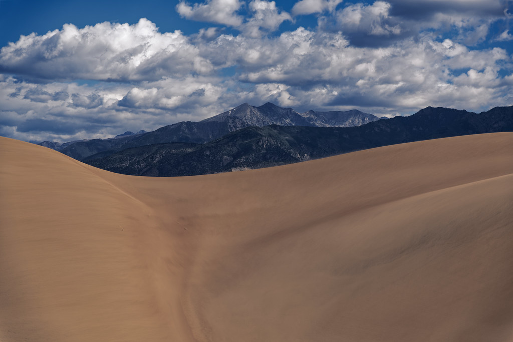 Folds Across the Great Sand Dunes (Great Sand Dunes National Park & Preserve)