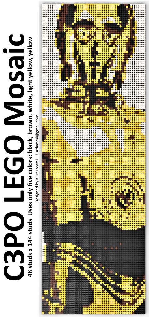 C3PO LEGO Mosaic