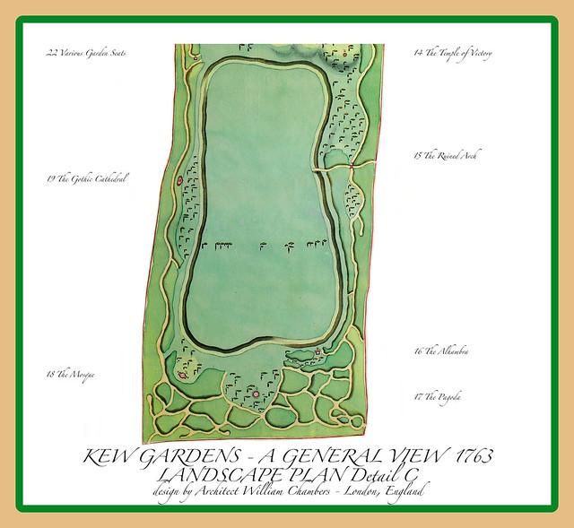 HISTORIC KEW GARDENS . 1763 Chambers Plan Detail C   (#36 in series) - Kew England UK  14Jun2021 sRGB web