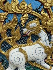 :dragon: white #dragon #temple facade detail #bangkok