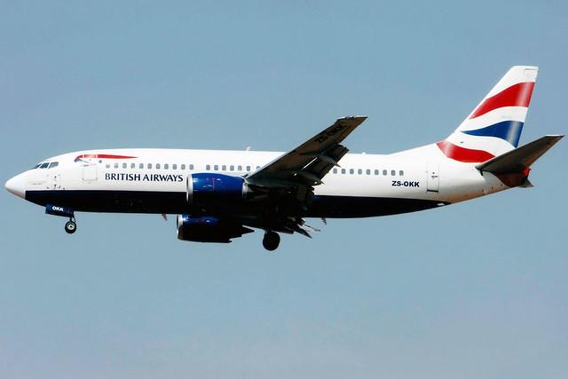 British Airways (Comair) | Boeing 737-300 | ZS-OKK | Johannesburg International