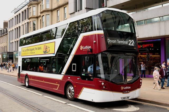 Lothian Buses: 463 SJ66LRN Volvo B5TL/Wright Eclipse Gemini 3