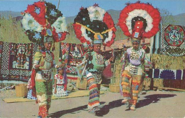 Mexico Oaxaca Dancers Zapotec Costumes