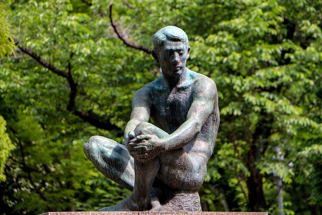 Sculpture at a park in Shinjuku, Tokyo