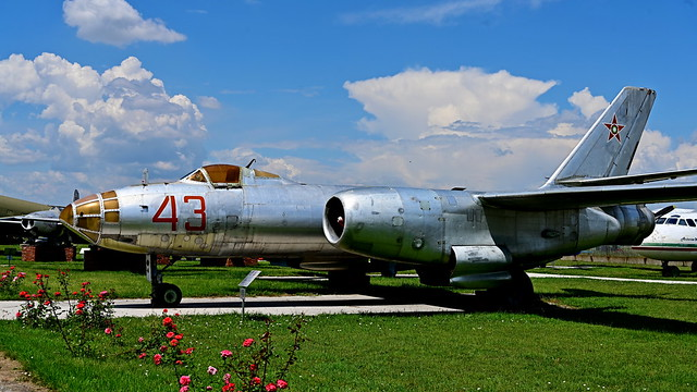 A Bulgarian AF IL-28 'BEAGLE' rests at Krumovo.