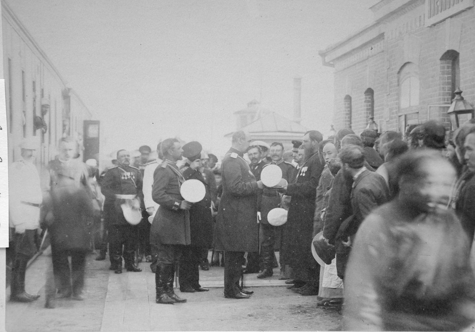 Проводы Унтербергера в Никольске-Уссурийском. 1897