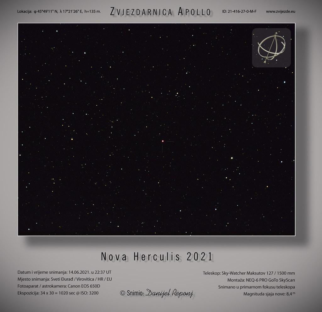 Nova Herculis 2021. 14.6.2021.