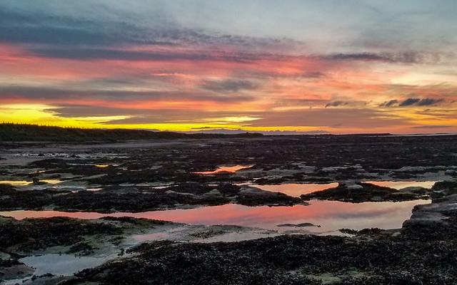 Beadnell beach sunset