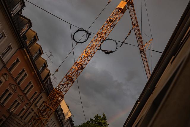 parallelogramm mit regenbogen