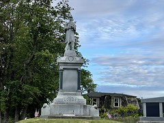 Civil War Monument in Lubec, Maine.