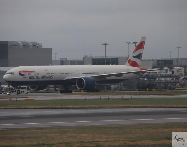 British Airways B777-3336ER G-STBA at LHR/EGLL
