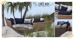 CHEZ MOI Harper Boat Couch