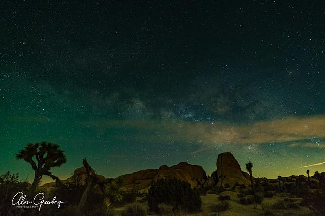 Stars rising over Jumbo Rock