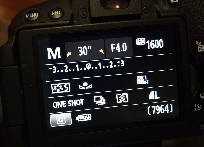 Suggested settings for photographing the night sky, Canon EOS 700D