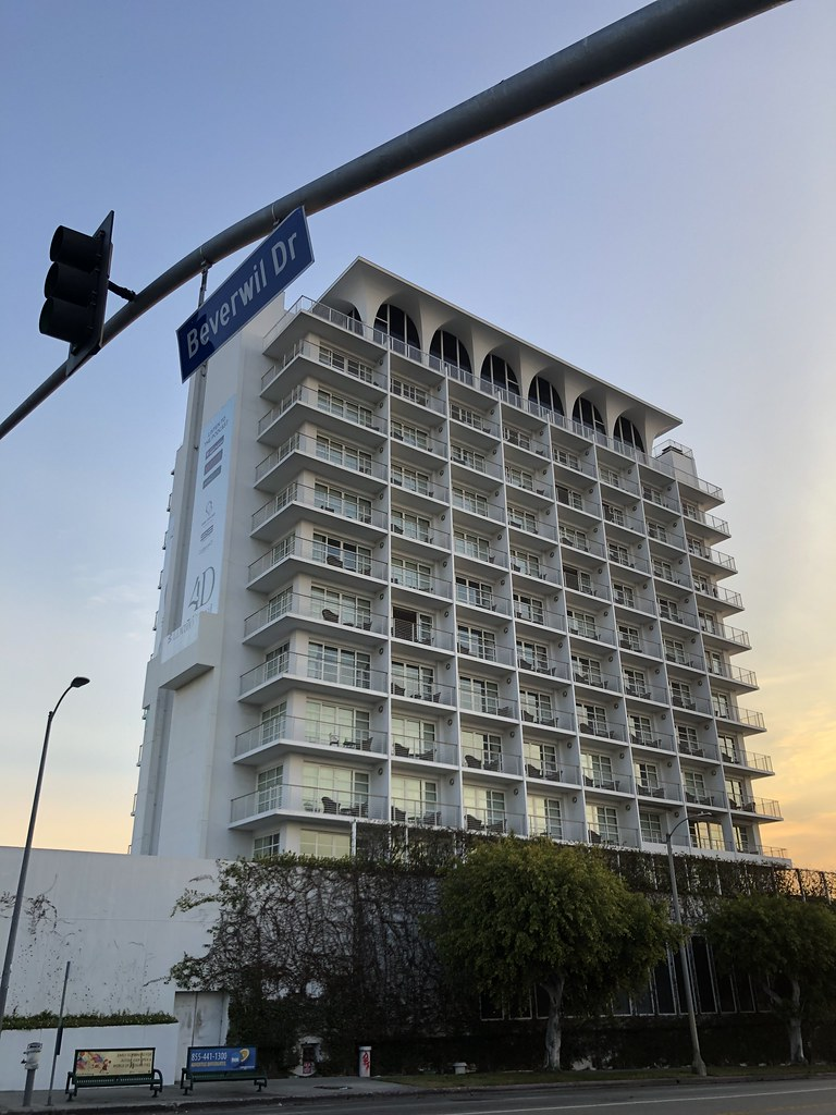 Mr C hotel. Formerly known as the Beverly hillcrest hotel.