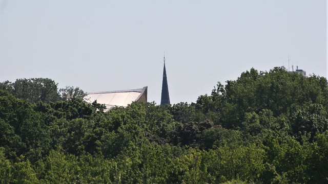 1891/94 Berlin Spitzgelm evangelische Luther-Kirche 86mH von Johannes Otzen Dennewitzplatz in 10783 Schöneberg