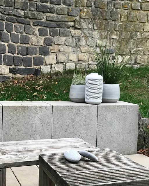 Concrete Blocks Wall/Bench