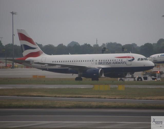 British Airways A319-131 G-EUOH at LHR/EGLL