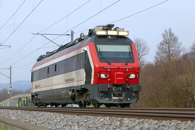 SBB Infrastukturdiagnosefahrzeug 160 005 Sissach