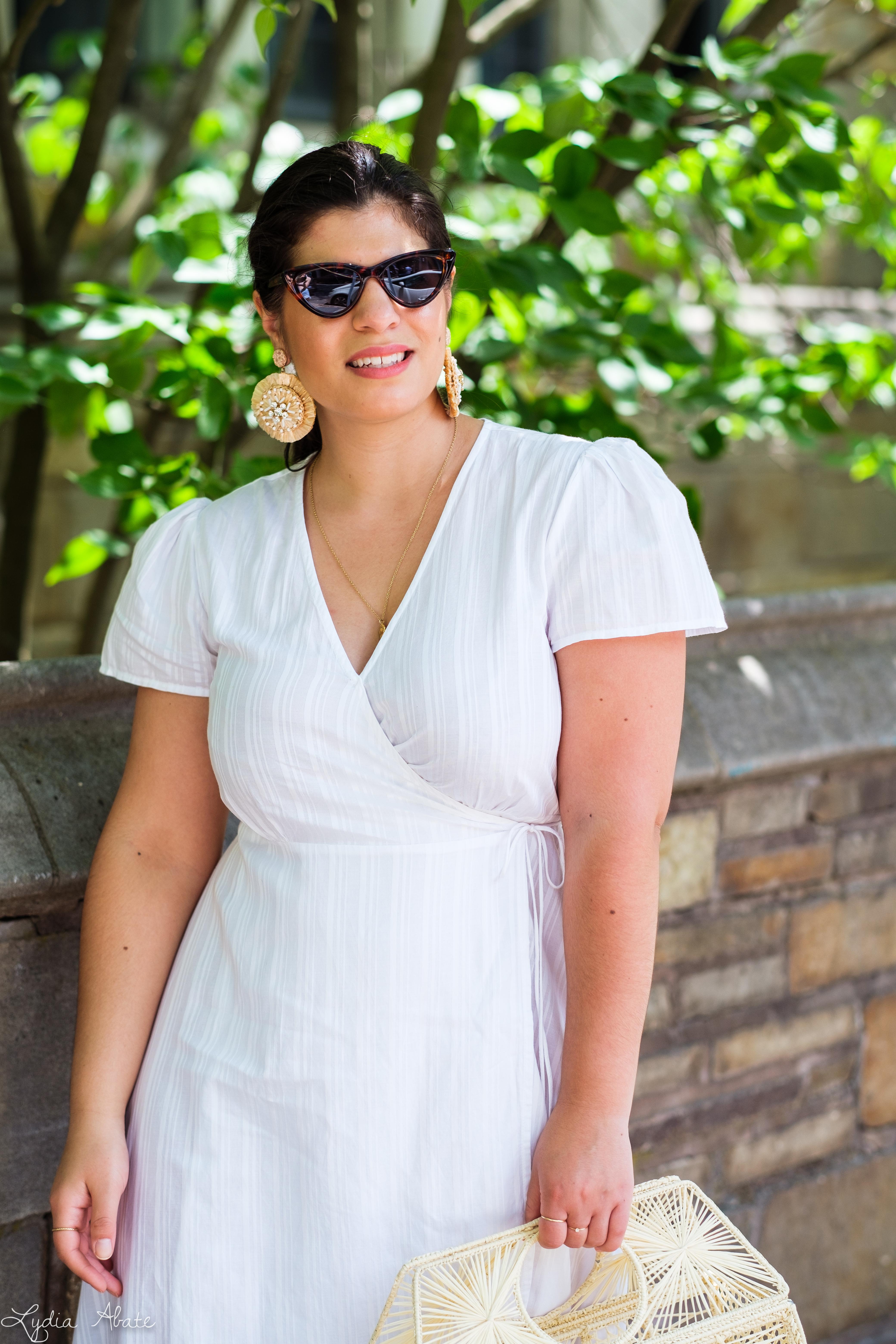little white wrap dress, raffia basket bag, raffia heels-12.jpg