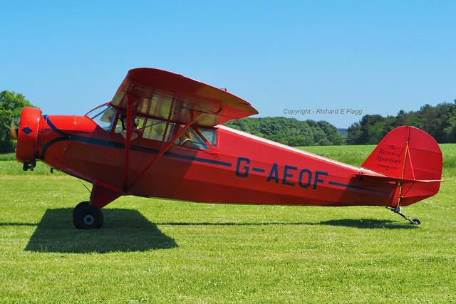 G-AEOF : Rearwin 8500 Sportster at Cromer-Northrepps.