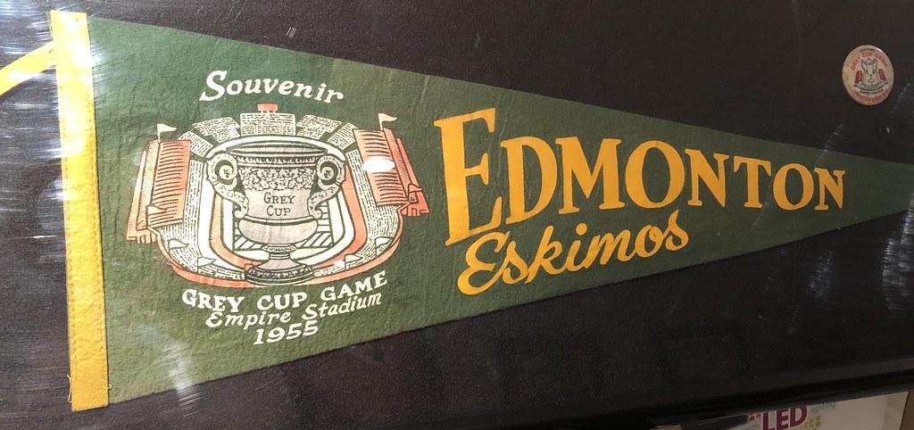 Edmonton Eskimos 1955 Grey Cup Champions pennant.