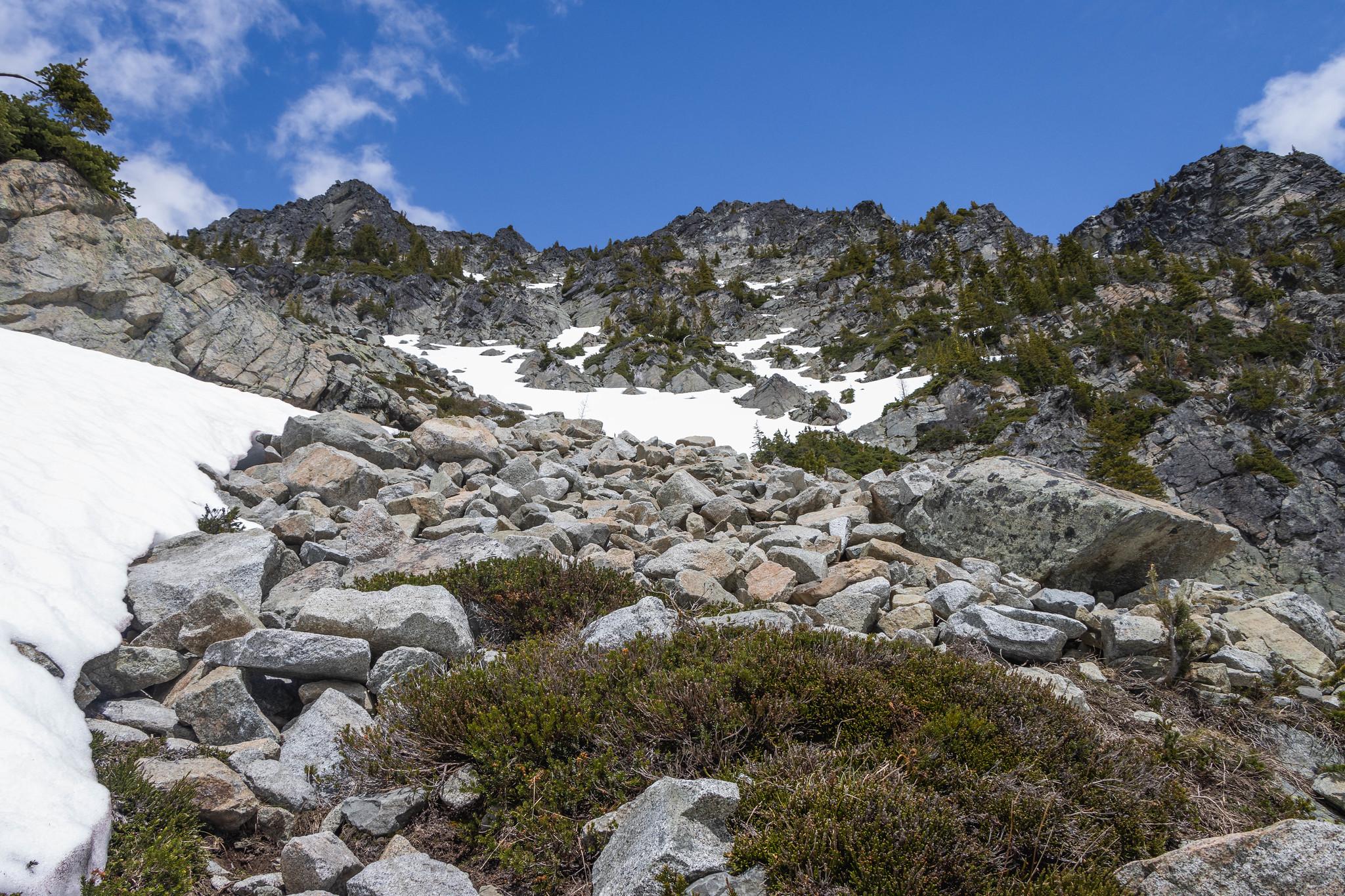 Switchblade Peak southwest route
