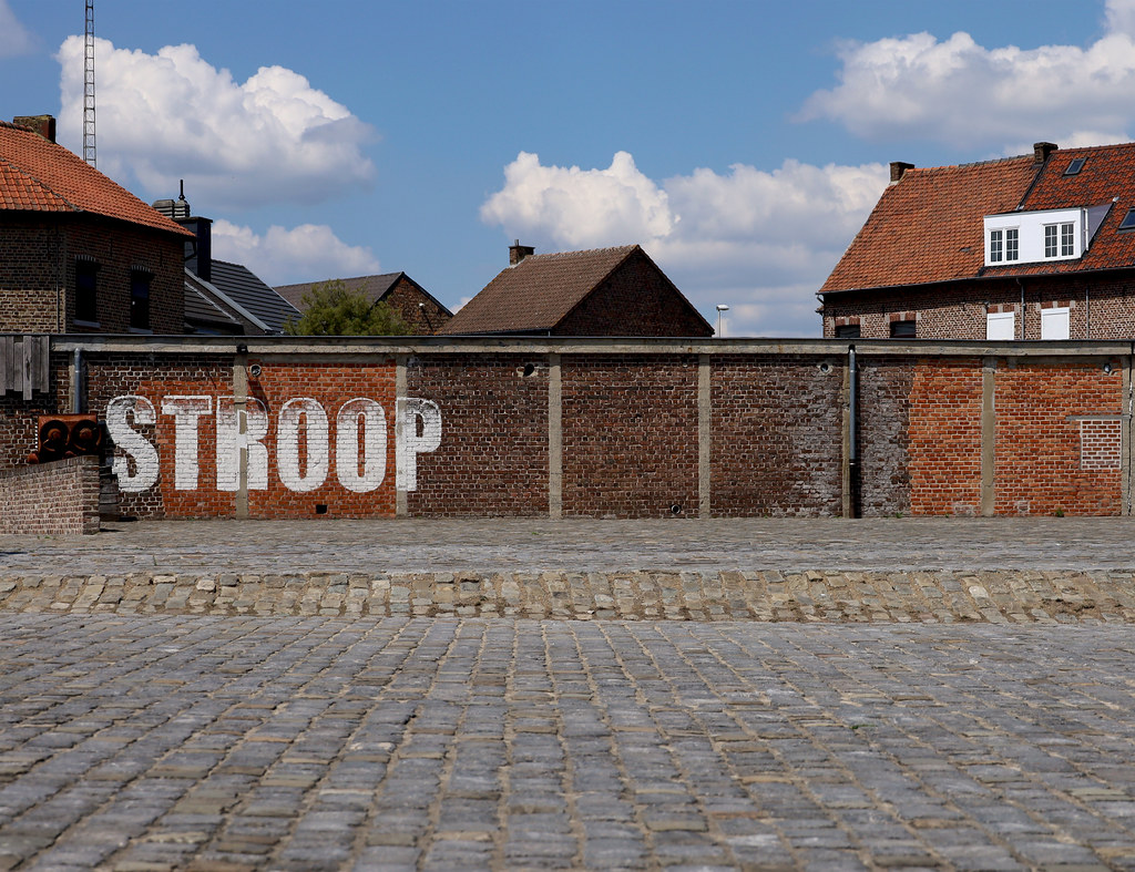 Brick wall and cobble stone yard