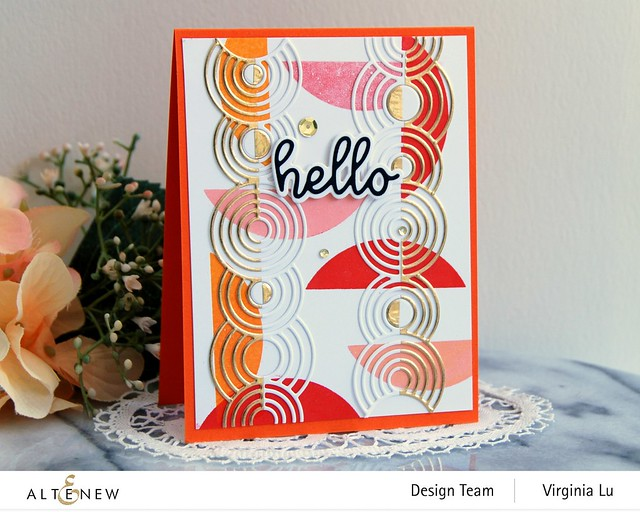 Altenew-Rippling Rings Border Die-All About You Die Set-Let's Go Stamp Set