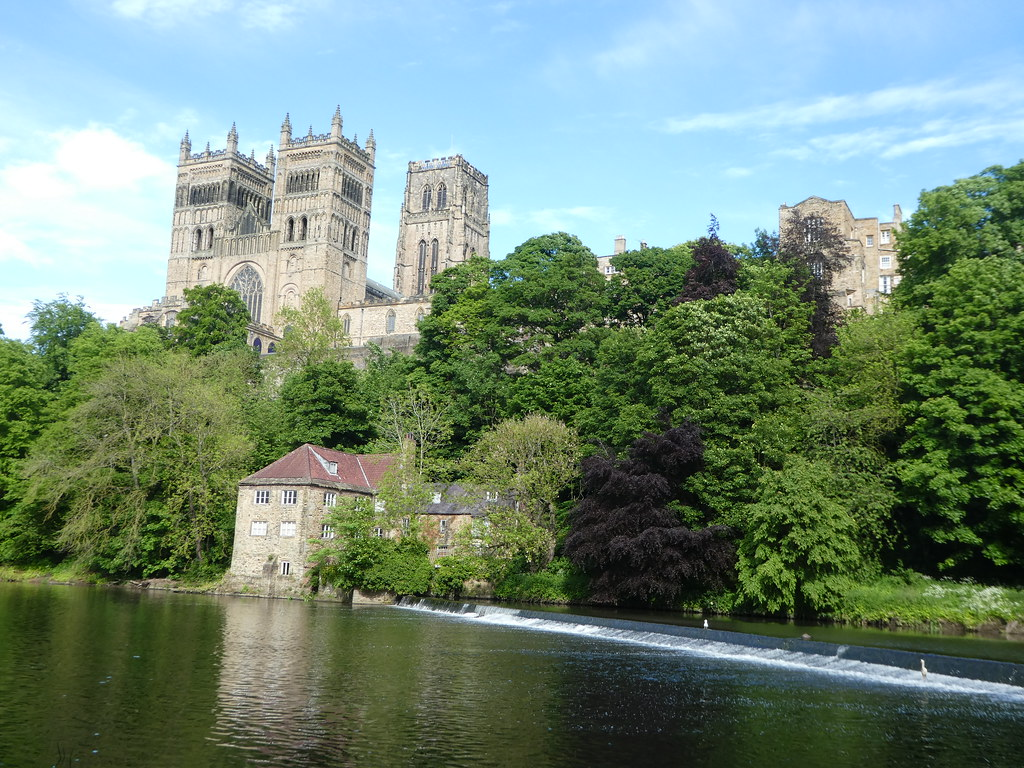 View of Durham Cathedral from the riverside path
