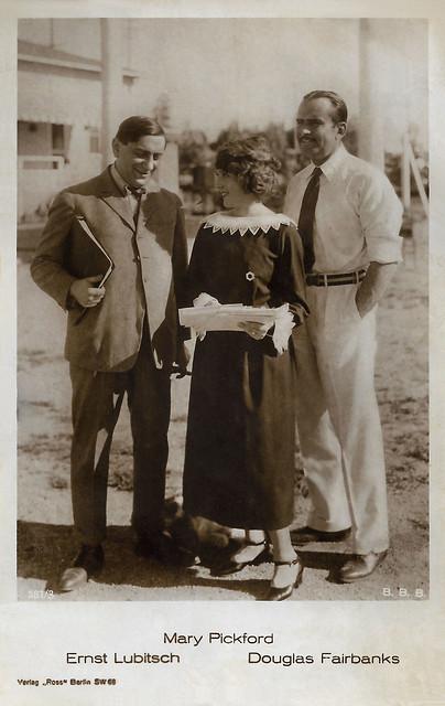 Ernst Lubitsch, Mary Pickford and Douglas Fairbanks