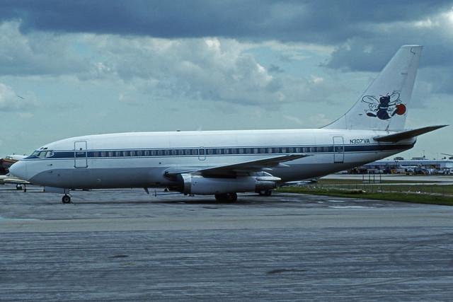 N307VA (Pace Airlines - Charlotte Hornets)