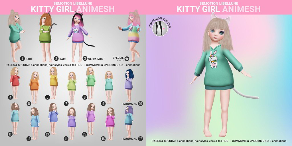 SEmotion Libellune Kitty Girl Animesh