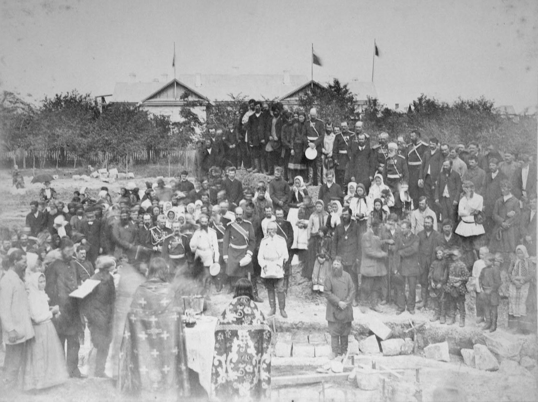 Закладка каменного храма. 1894