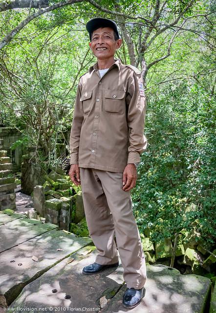 Guide at Beng Mealea temple, Angkor, Cambodia