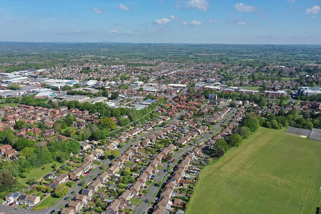 [Drone view] Burgess Hill, West Sussex
