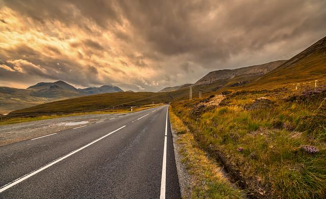 Cloud Route, A87 near Loch Ainort, Skye, Scotland.