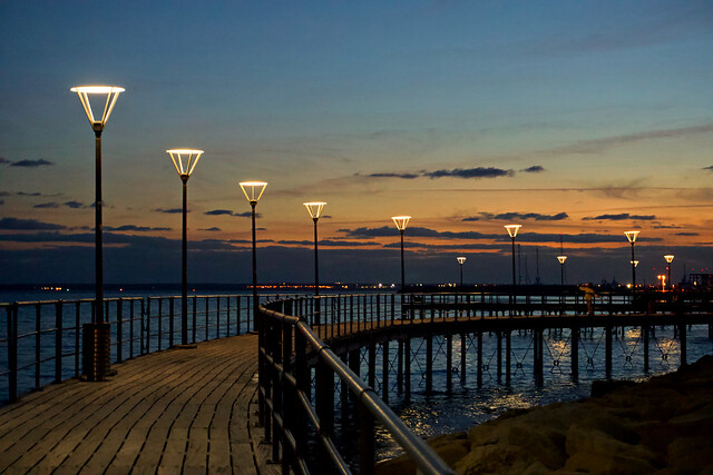 Sunset (promenade) - Limassol, Cyprus