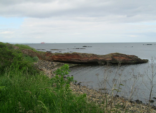 red rocks, Seafield, Kirkcaldy, Fife, Firth of Forth