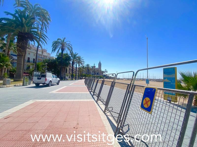 Las playas cerradas por la verbena de San Juan en Sitges 2021