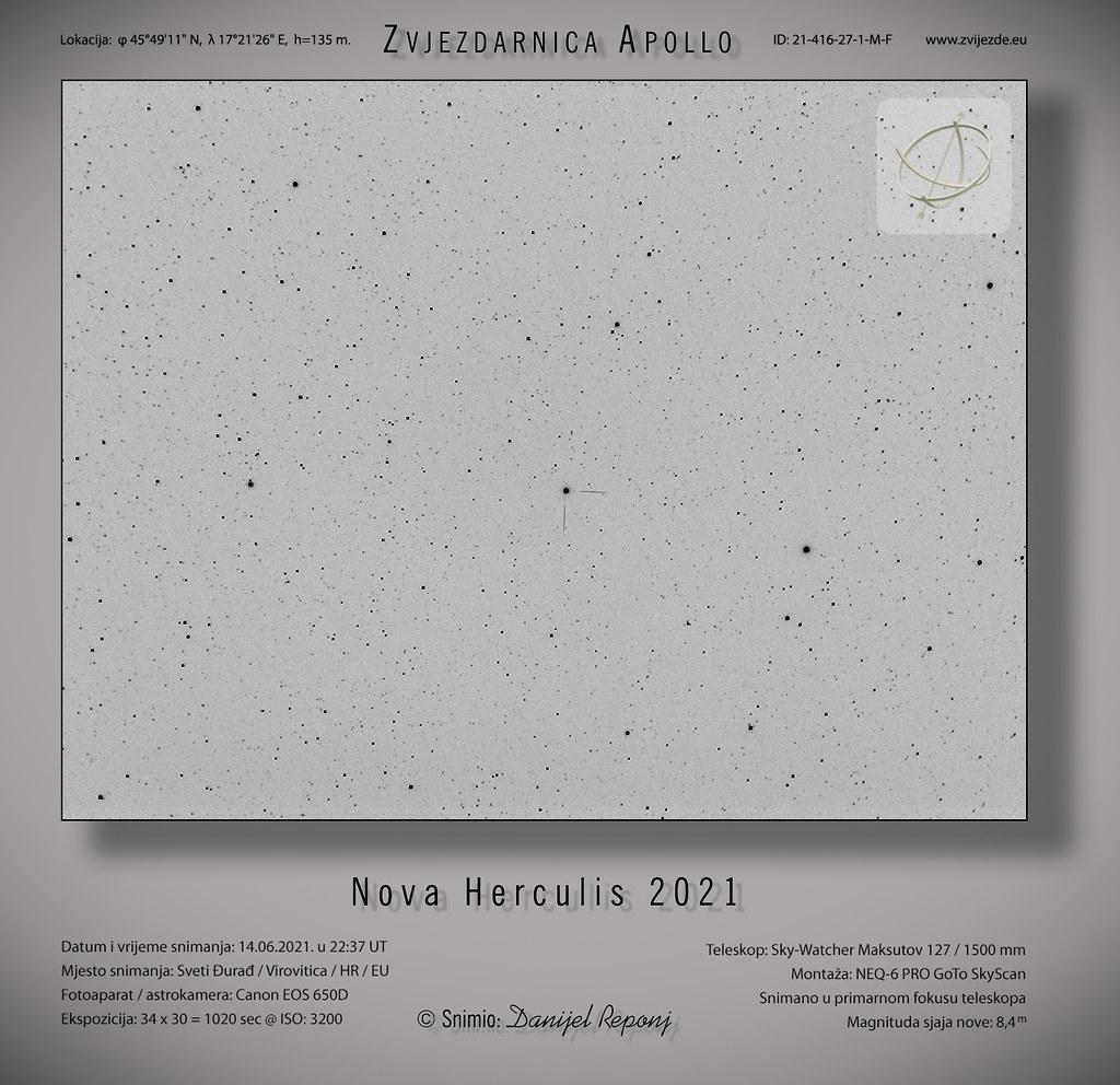 Nova Herculis 2021 14.6.2021.