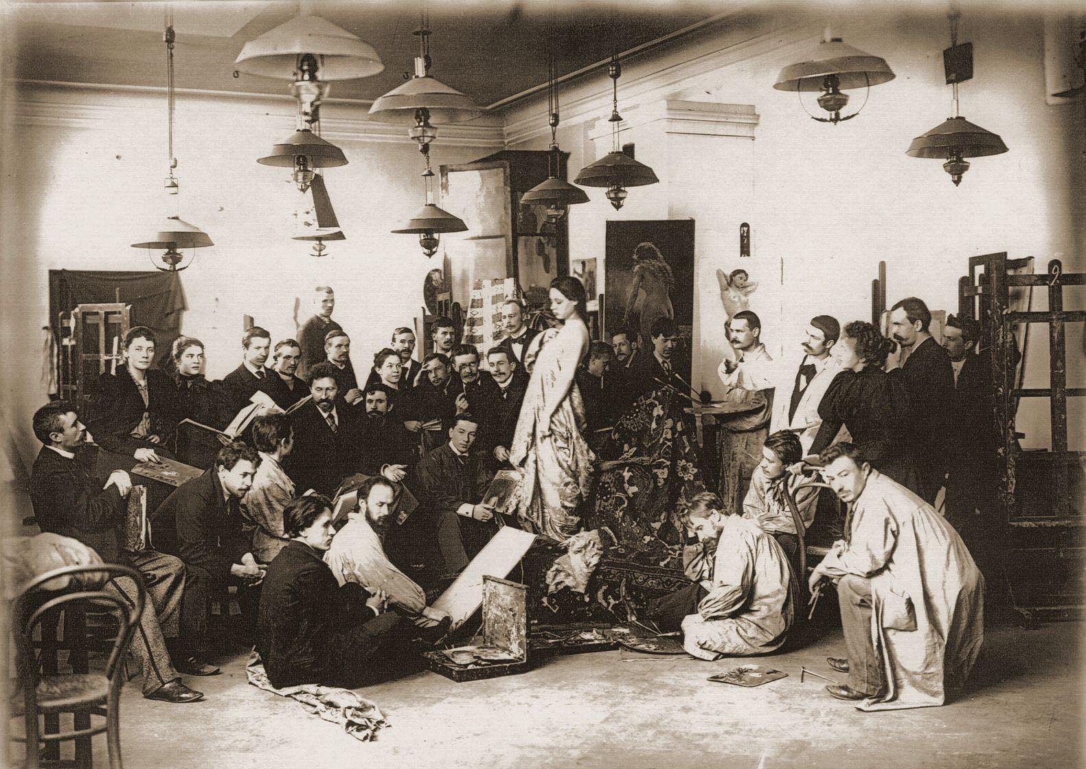 1898. Академия художеств. Живописная мастерская профессора И. Е. Репина