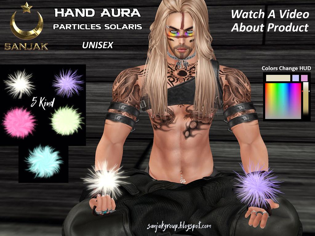Hand Aura Particles Solaris & Colors Change HUD Sanjak