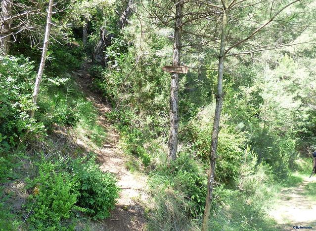 Congost de Tres Pont -03- Acceso sectores de escalada -03- Fontanella -02- Sendero de Acceso 03 Acceso a Fontanella Est