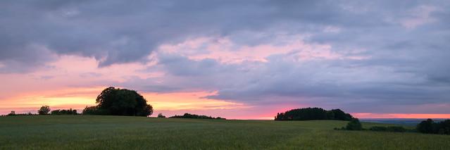 Panoramic Sunset from Cheesefoot Head, Hampshire - UK