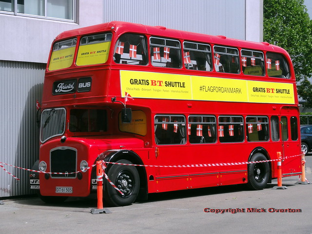 1959 Bristol LD6G154031 DT61505 has been hired by a newspaper for the EURO 2021 Football