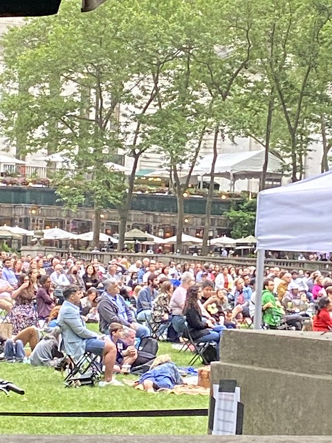 Saturday with the NY philharmonic in Bryant Park