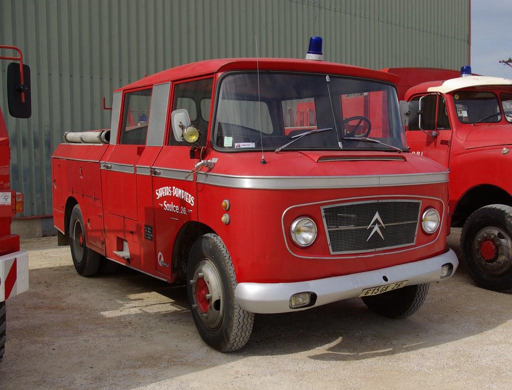 615GK26 (1964) Citroen 46 CDU HKZ . Drouville FPT . sapeurs Pompiers Saulce s Rhone