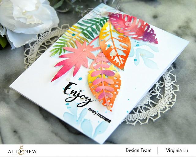 Altenew-Tropical Leaf Mix Die Set-Floral Drape Stencil-Simply Spring Stamp Set-002