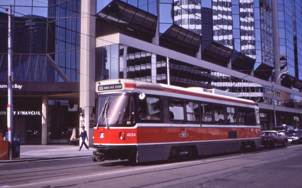 11041T - Toronto Transit 4034 - Dundas Street West at Bay Street - 18 May 1983